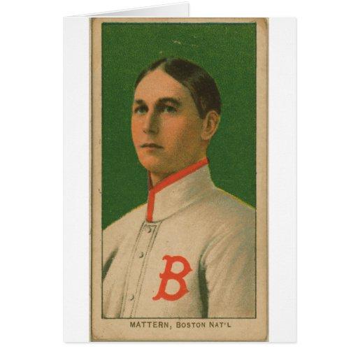 Al Mattern, palomas de Boston/Rustlers de Boston Tarjeton