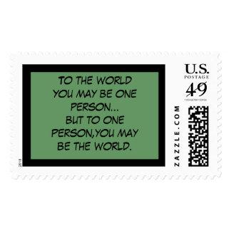 Al mundo usted puede ser apenas una persona… pero franqueo