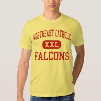 Al noreste católico - Falcons - alto - Playera