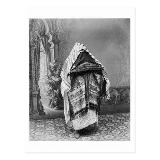Al norte africano en el traje - foto 1880 del postal