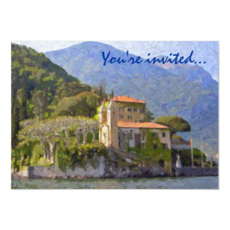 Al norte de invitaciones del fiesta de Italia Invitación 12,7 X 17,8 Cm