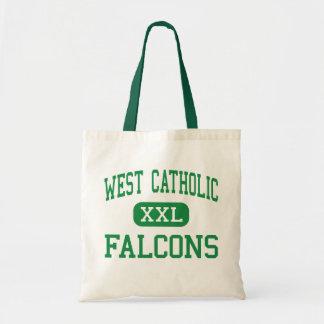 Al oeste católico - Falcons - alto - Grand Rapids Bolsa Tela Barata