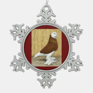 Al oeste de Baldhead del rojo del vaso de Adorno De Peltre En Forma De Copo De Nieve
