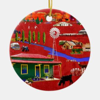 Al oeste de la gran divisoria adorno navideño redondo de cerámica