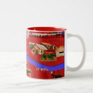 Al oeste de la gran taza de café de división de la