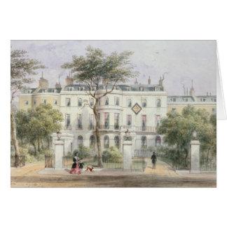 Al oeste frente de la casa de sir Robert Peel Tarjeta De Felicitación