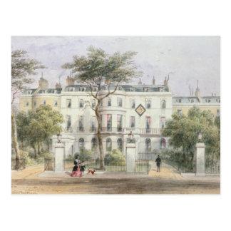 Al oeste frente de la casa de sir Robert Peel Tarjeta Postal