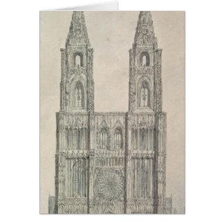 Al oeste frente de la catedral de Estrasburgo Tarjeta De Felicitación