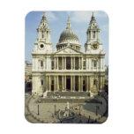 Al oeste frente de la catedral de San Pablo, diseñ Imanes Rectangulares