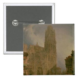 Al oeste frente de Notre Dame, Ruán Pin Cuadrada 5 Cm