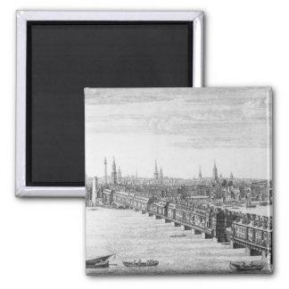Al oeste frente del puente de Londres, 1749 Iman De Frigorífico