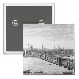 Al oeste frente del puente de Londres, 1749 Pin Cuadrado