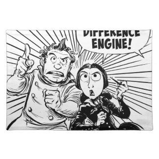 Al panel del motor de diferencia mantel individual