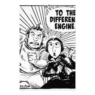Al panel del motor de diferencia papelería de diseño