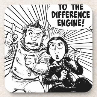 Al panel del motor de diferencia posavasos de bebida