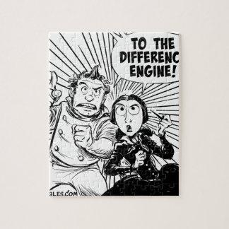 Al panel del motor de diferencia rompecabeza con fotos