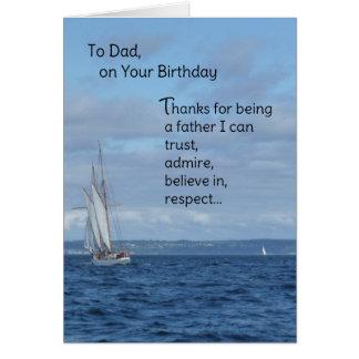 Al papá, en su cumpleaños tarjeta de felicitación