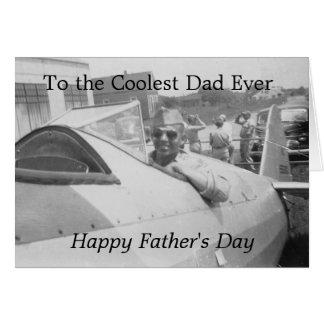 Al papá más fresco nunca felicitacion