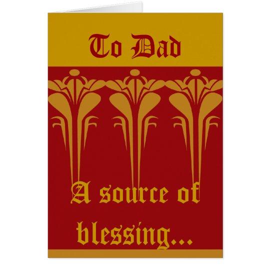 Al Papá-Personalizar Tarjeta De Felicitación