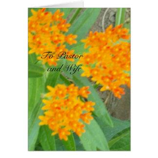Al pastor y a la esposa tarjeta pequeña