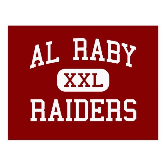 Al Raby - raiders - High School - Chicago Illinois Postcard