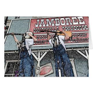 Al revés Bluegrass Tarjeta De Felicitación