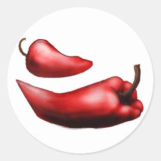 Al Rojo Vivo Pegatina Redonda