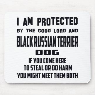 Al ruso negro Terri me protejo buen señor y Mouse Pad