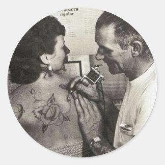 Al Shieferly tattoos Rose Classic Round Sticker