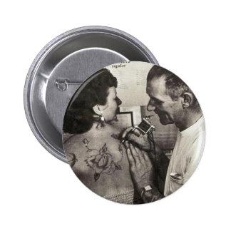 Al Shieferly tattoos Rose Pinback Button