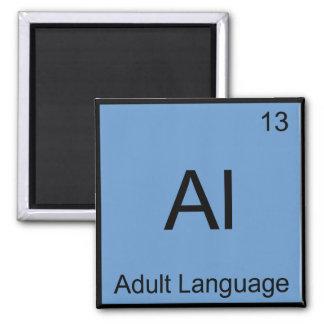 Al - símbolo divertido del elemento de la química  imán de frigorífico