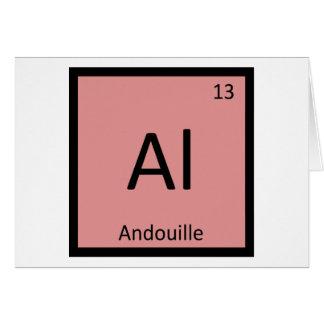 Al - tabla periódica de la química de la salchicha tarjeta de felicitación