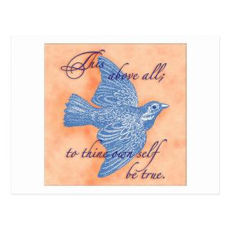 Al thine posea al uno mismo sea verdad… Postal