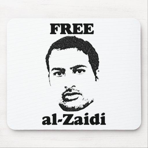 Al-Zaidi libre Mousepad - periodista iraquí Tapetes De Raton