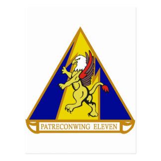 Ala 11 de la patrulla y del reconocimiento postales