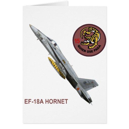 ALA 15 DE EF-18A-HORNET TARJETA DE FELICITACIÓN