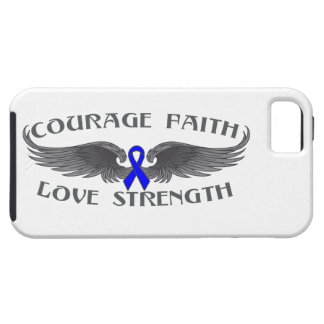 Ala de la fe del valor del cáncer rectal iPhone 5 fundas