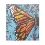 Ala de la mariposa de monarca de las creaciones de bloc de papel
