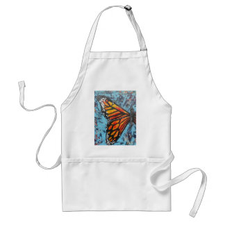 Ala de la mariposa de monarca de las creaciones de delantal