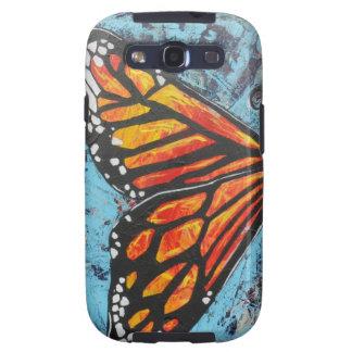 Ala de la mariposa de monarca de las creaciones de galaxy s3 protectores