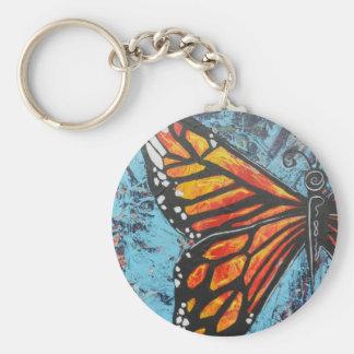 Ala de la mariposa de monarca de las creaciones de llaveros