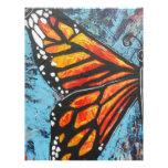Ala de la mariposa de monarca de las creaciones de membrete