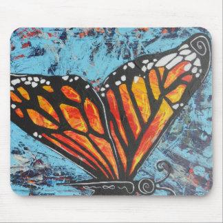 Ala de la mariposa de monarca de las creaciones de tapetes de ratón