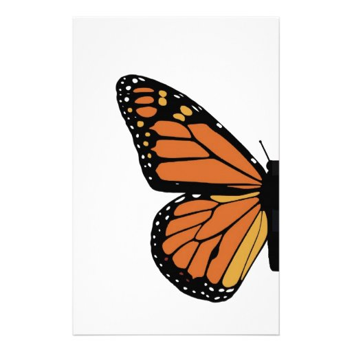ala de la mariposa de monarca personalized stationery