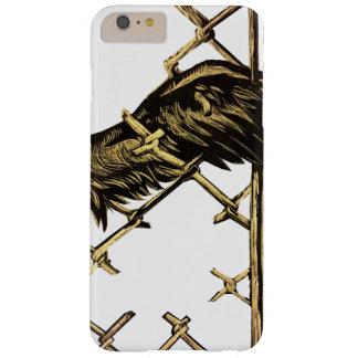 Ala de un pájaro atrapado en una cerca funda barely there iPhone 6 plus