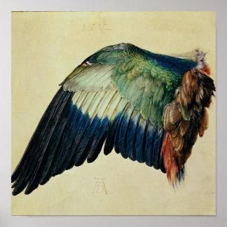 Ala de un rodillo azul, 1512 póster