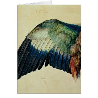 Ala de un rodillo azul, 1512 tarjeta de felicitación
