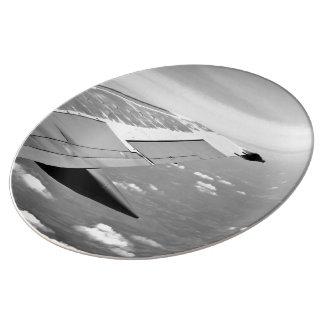 Ala del aeroplano plato de cerámica