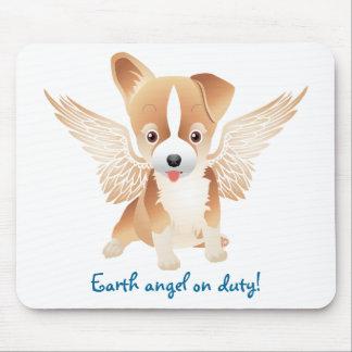 Ala del ángel del cojín de ratón del regalo del mouse pad