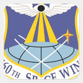 Ala del espacio de SSI de la fuerza aérea 460a Pegatina Cuadrada